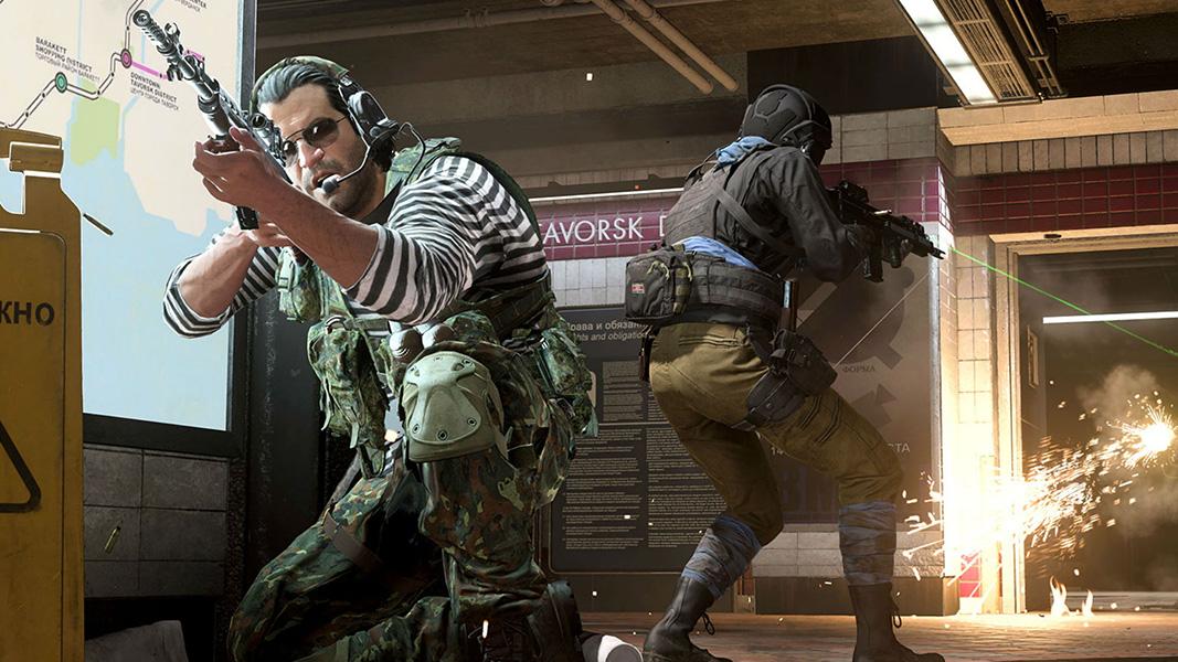 Warzone characters at subway