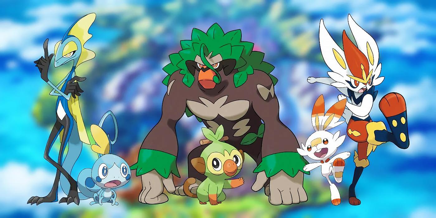 pokemon sword and shield starters