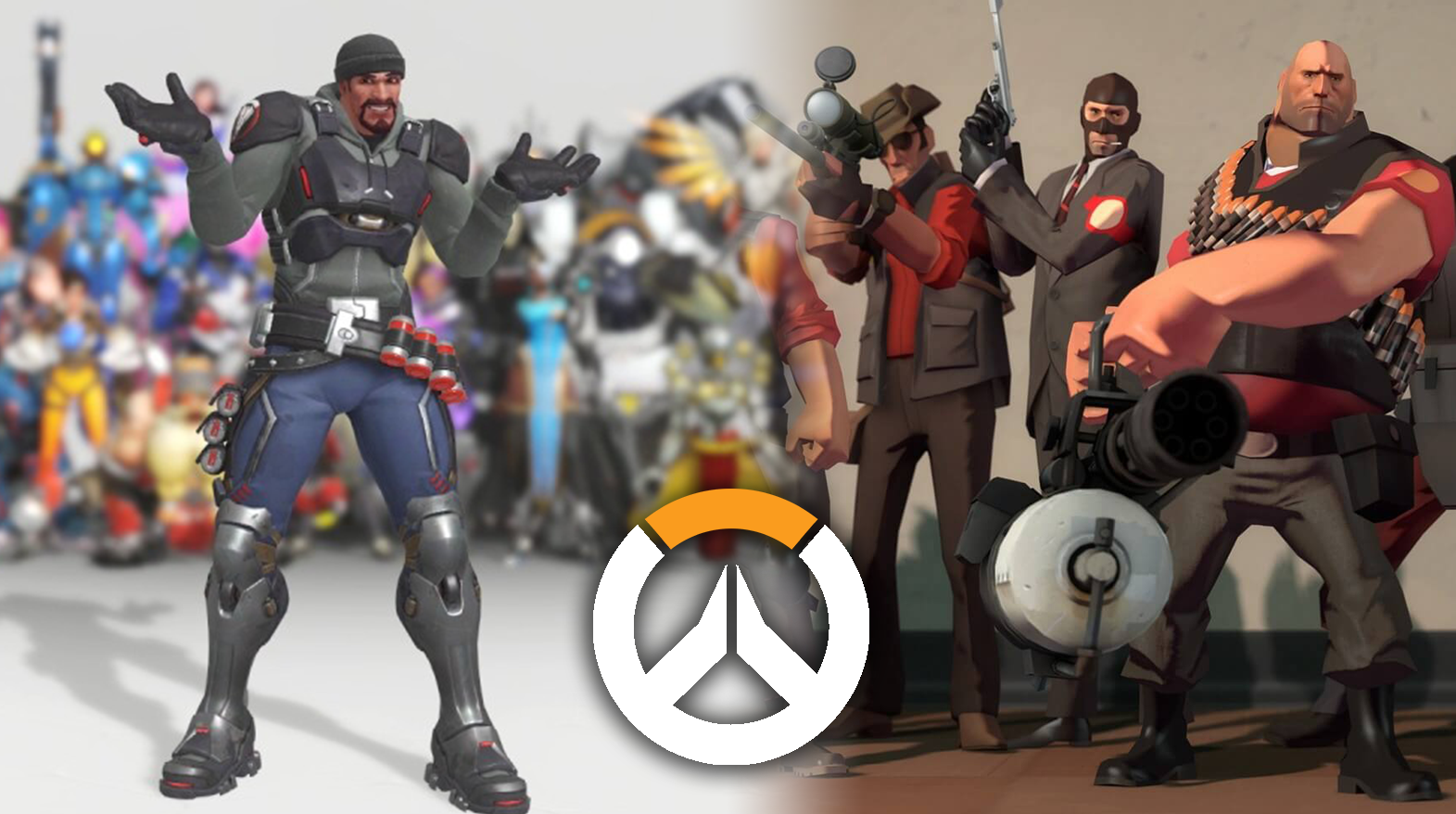 Overwatch gameplay / TF2 gameplay