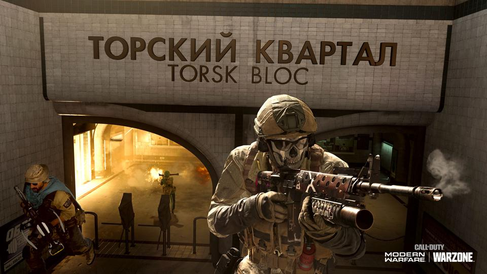 Warzone characters leaving Torsk Bloc