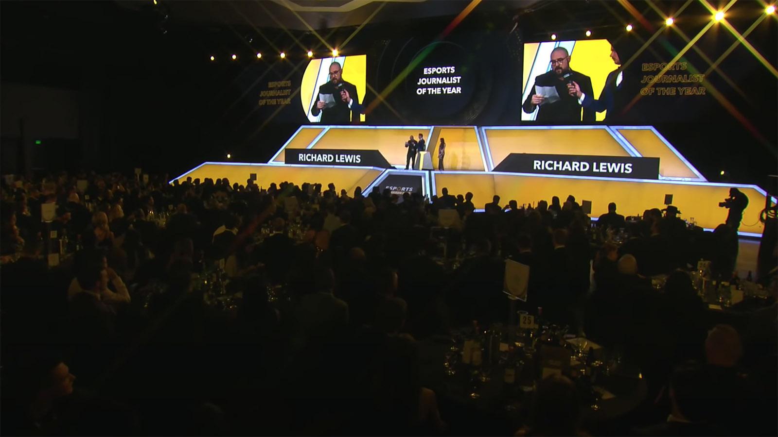 Richard Lewis Esports Awards Journalist of the year