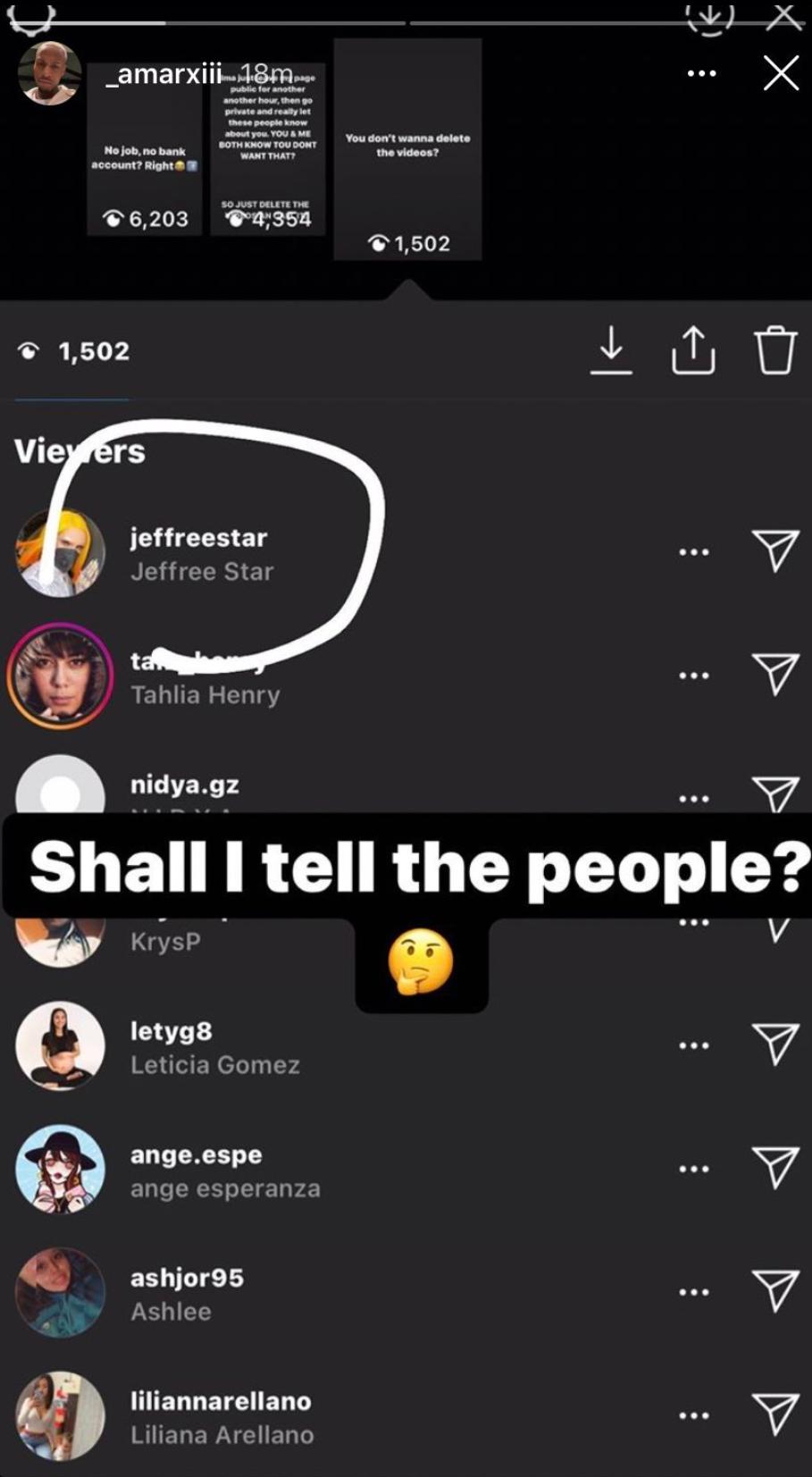 Instagram Jefree Star ex