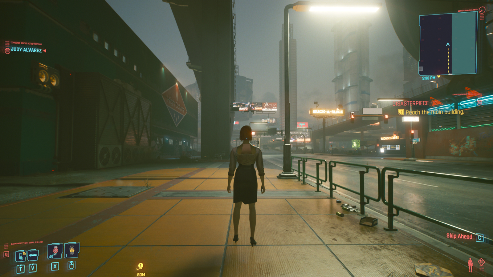 Image showcasing the third-person mod in Cyberpunk 2077