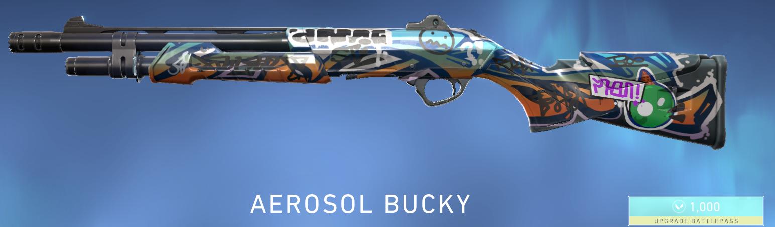 Valorant Aerosol Bucky Battlepass Skin