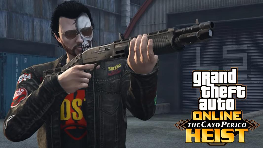 GTA character with combat shotgun