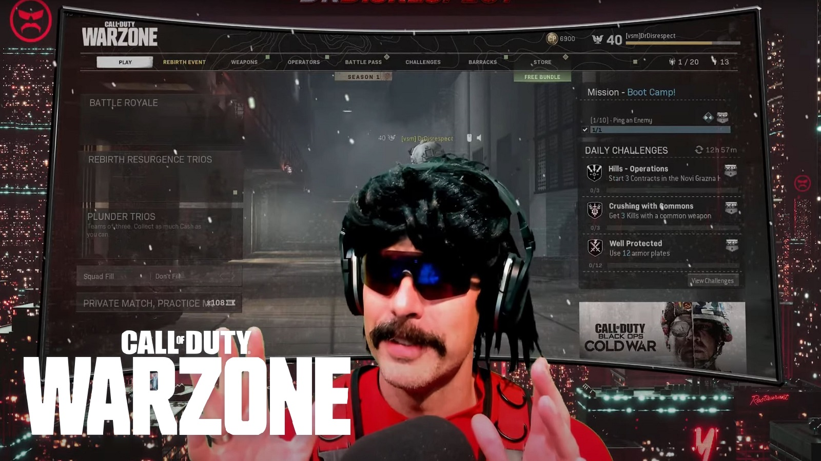 Dr Disrespect Stream With Logo