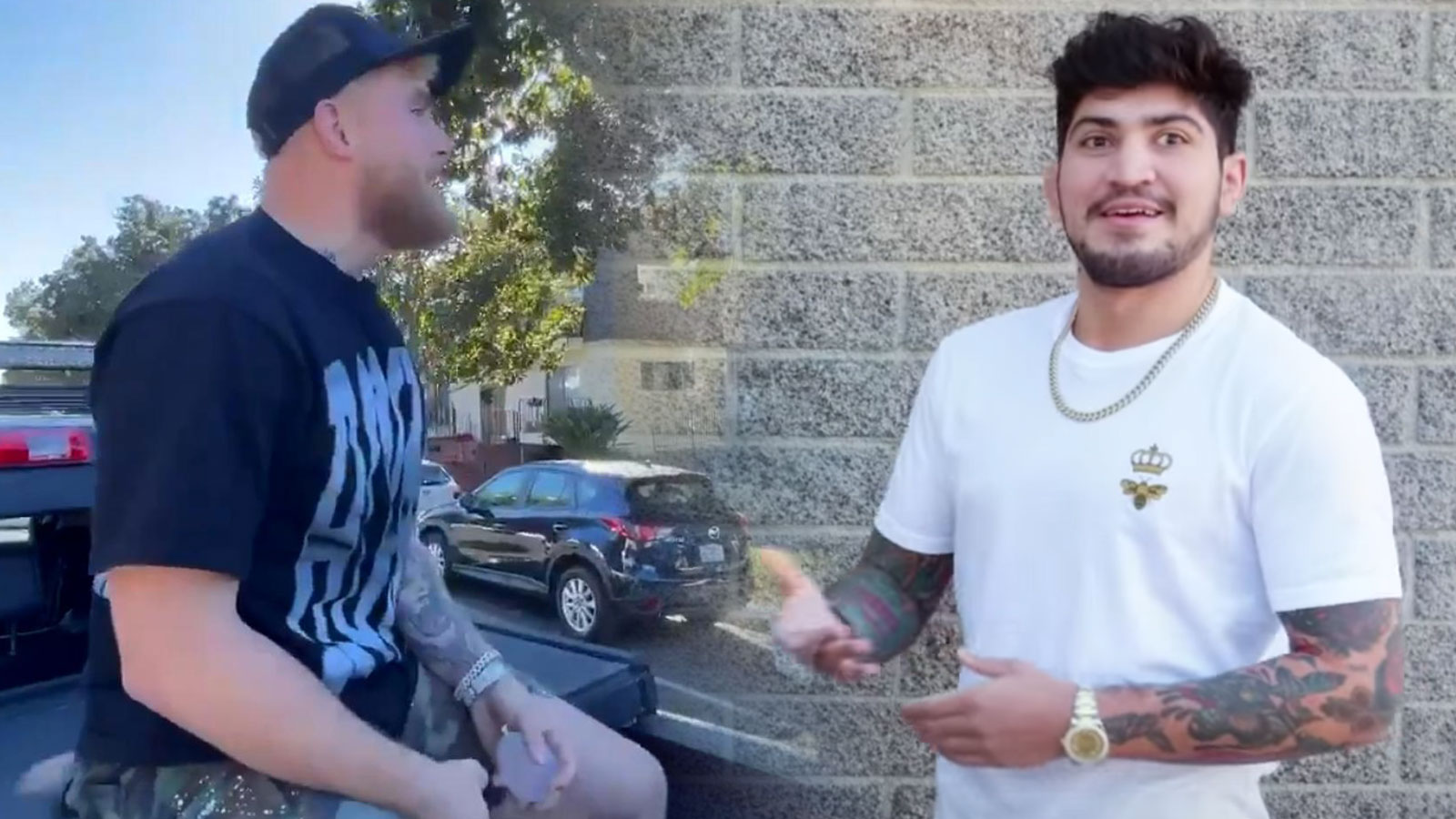 Jake Paul pranks Dillon Danis with waterballoons