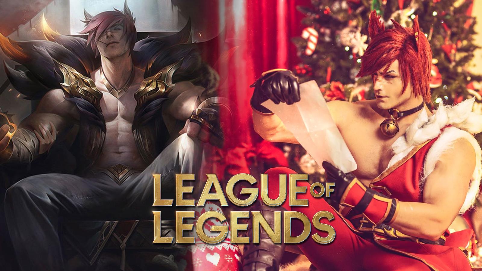 Christmas Sett cosplay in League of Legends by Taryn