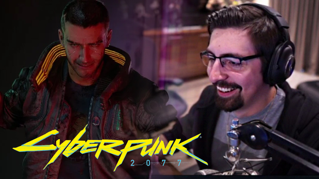 Shroud next to V from Cyberpunk 2077