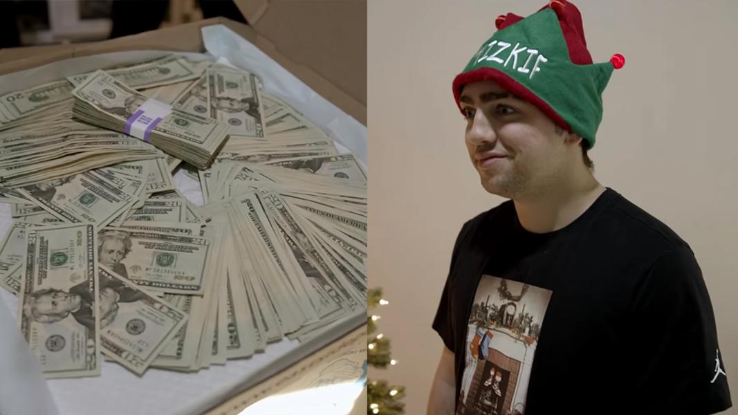 Mizkif next to $10,000 gift