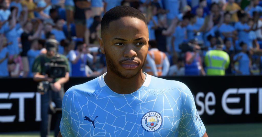 Raheem Sterling in FIFA 21.