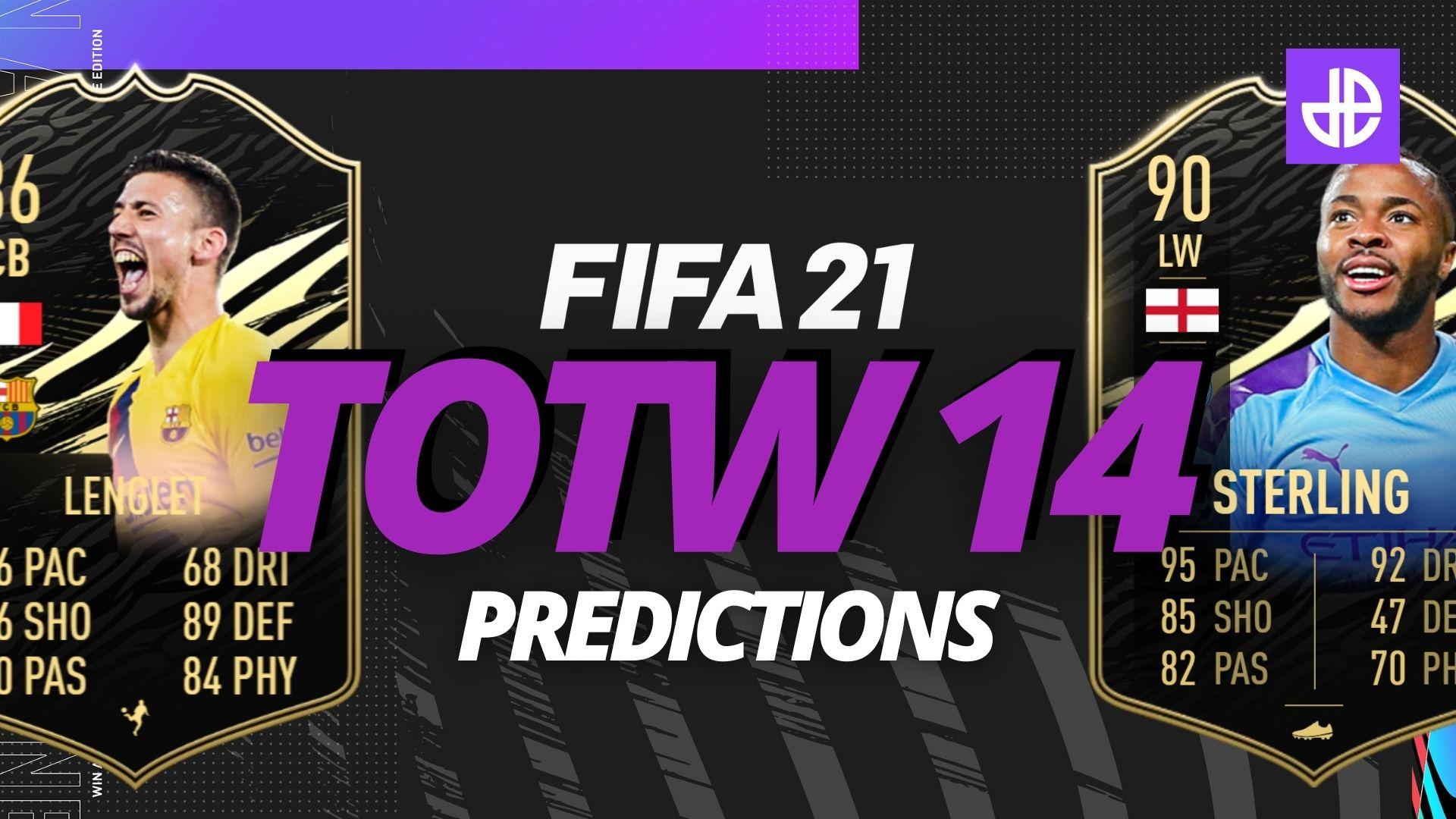 FIFA 21 Team of the Week TOTW 14 predictions.