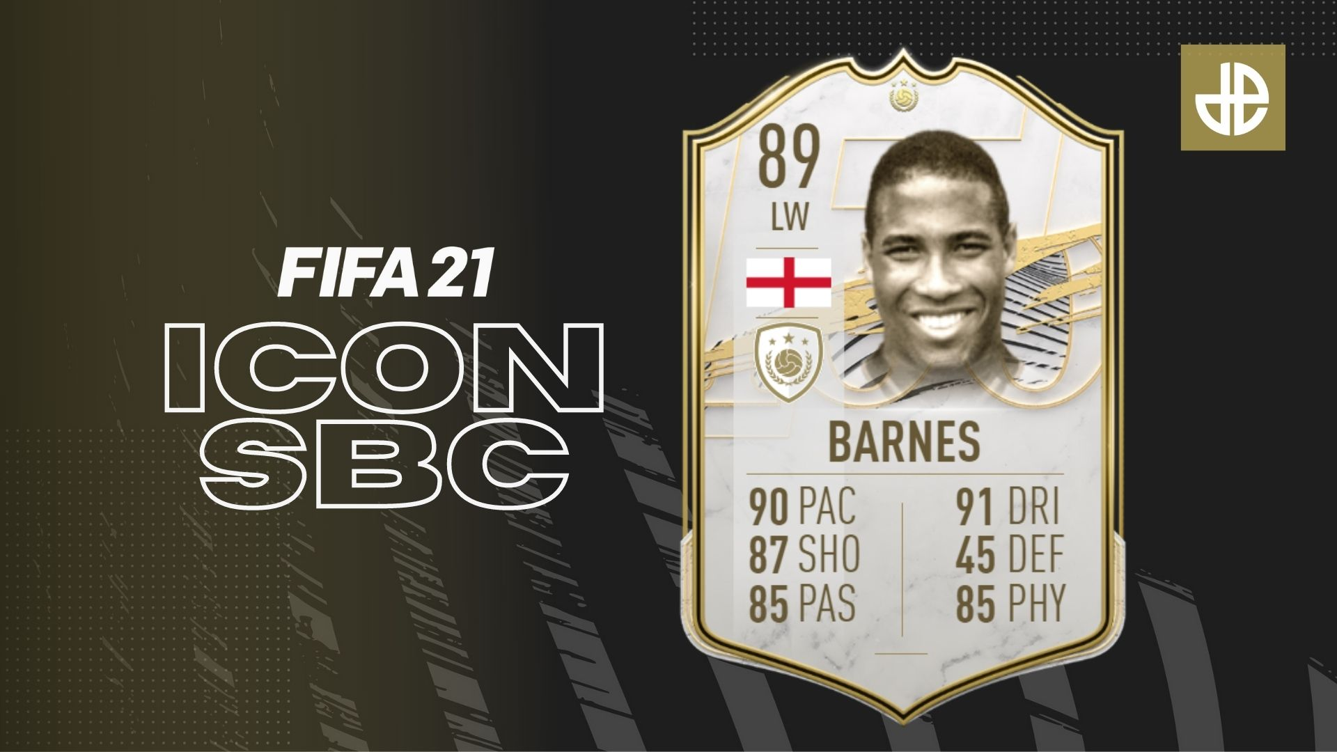 John Barnes 89-rated ICON SBC FIFA 21 Ultimate Team requirements cost.