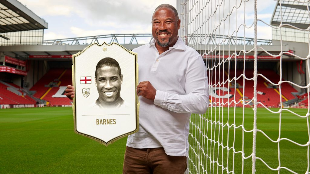 John Barnes was given his first Icon cards in FIFA 20.