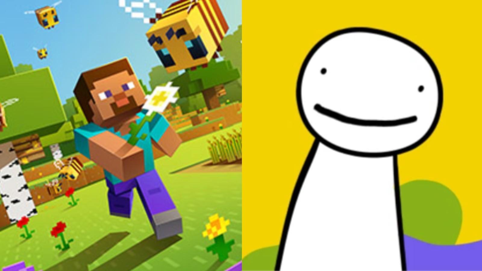 Minecraft promo image next to Dream logo