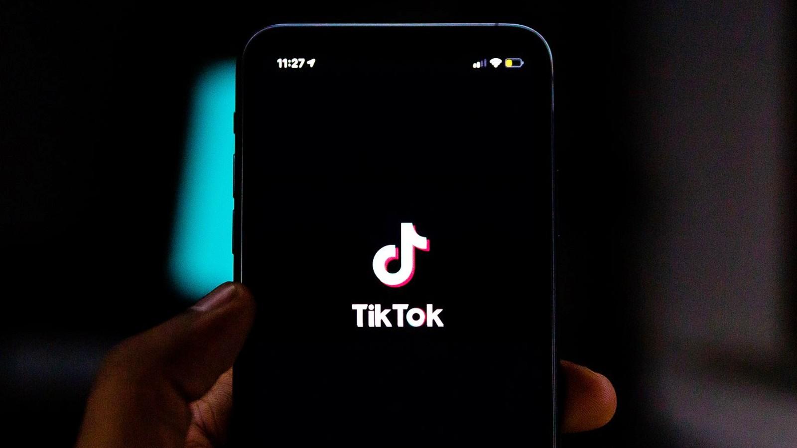 Phone with TikTok loading screen