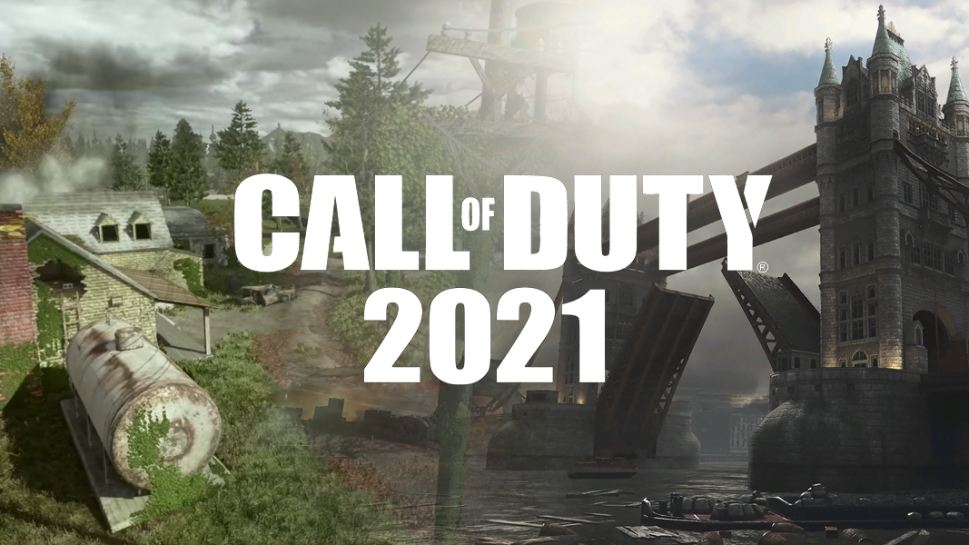 Call of Duty 2021 logo on top of OVergrown and London Docks