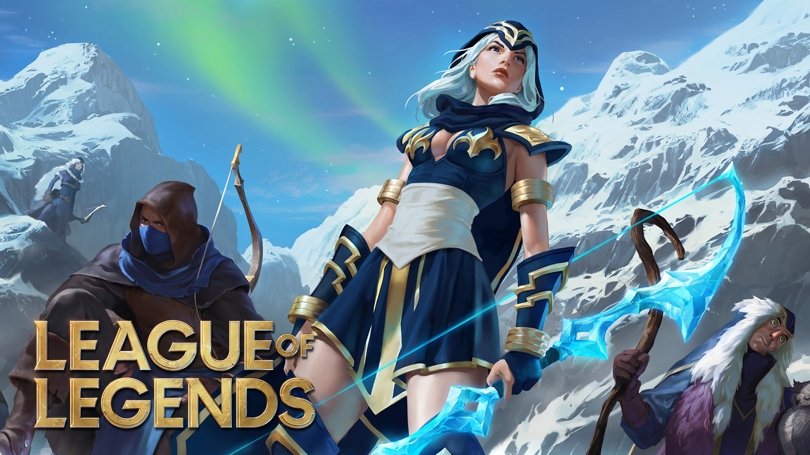 Ashe stands ready for the new League of Legends MMO RPG title coming 2023.