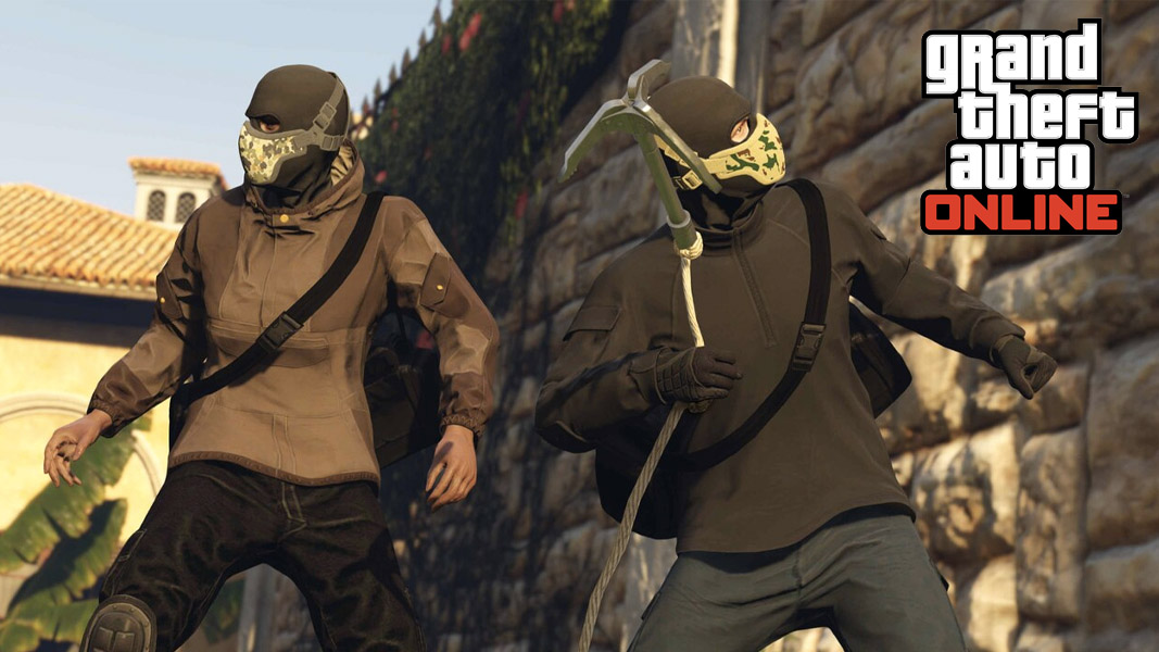GTA Online characters on Cayo Perico