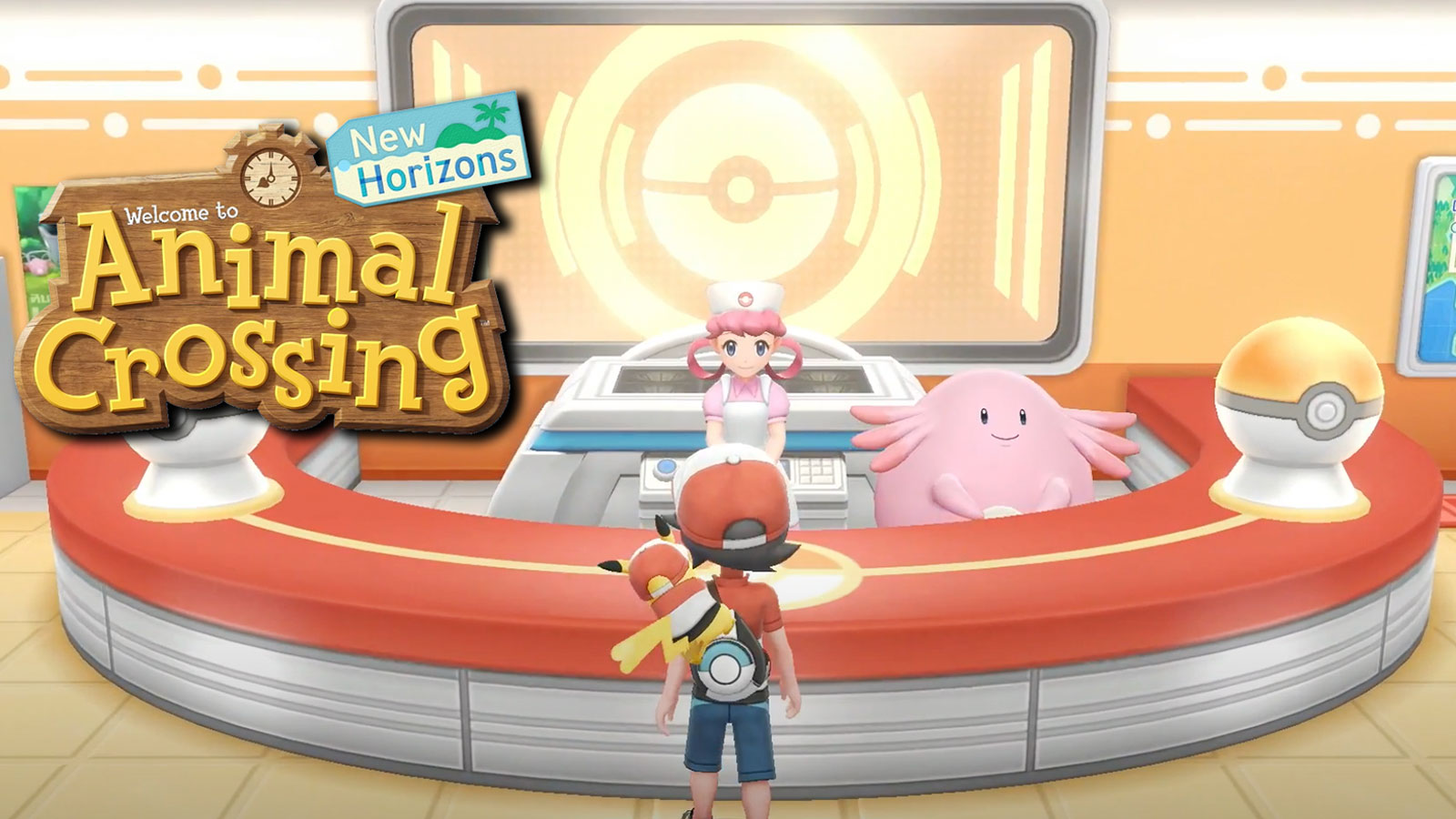 pokemon center animal crossing