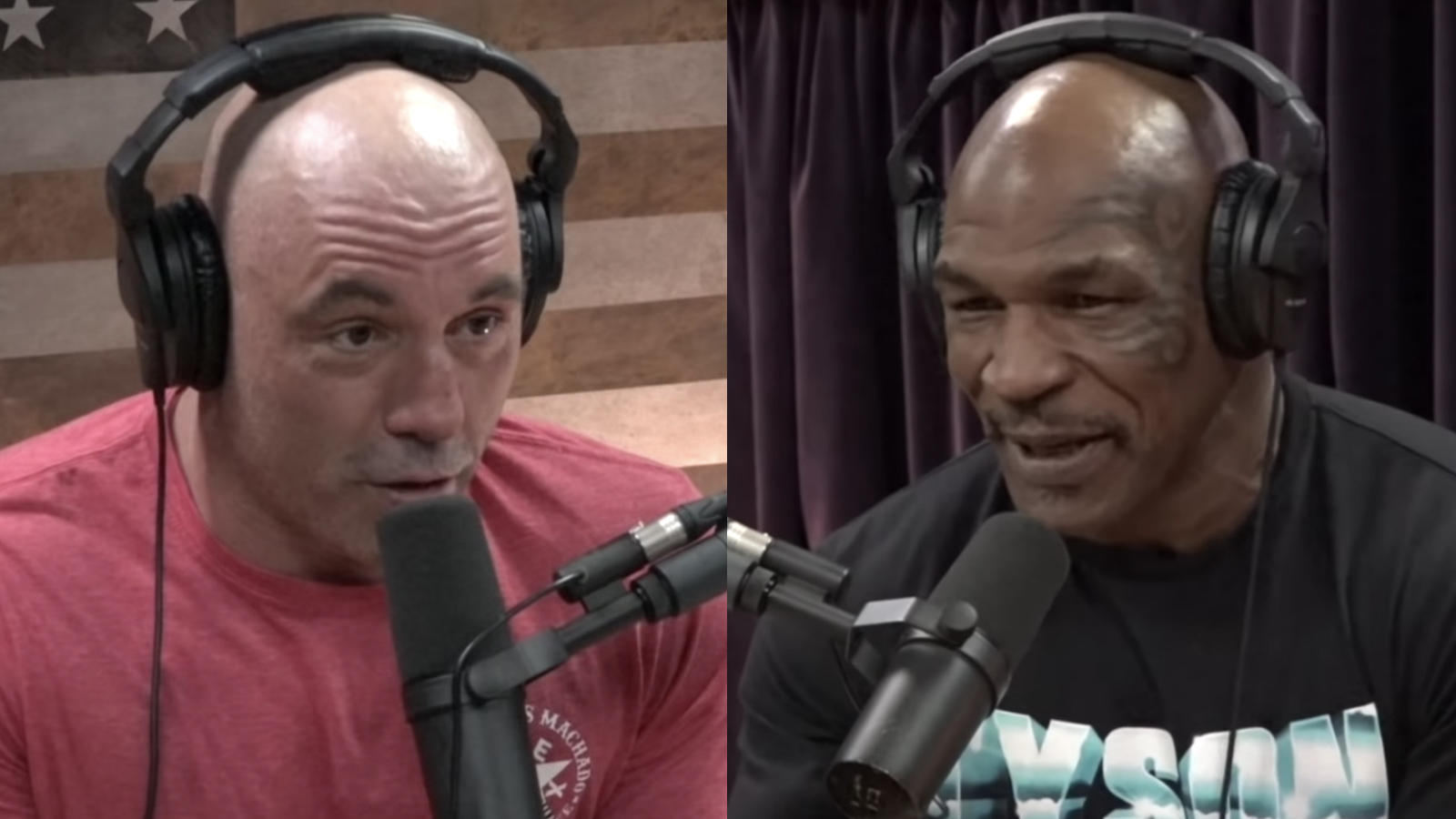 Joe Rogan and Mike Tyson on JRE podcast