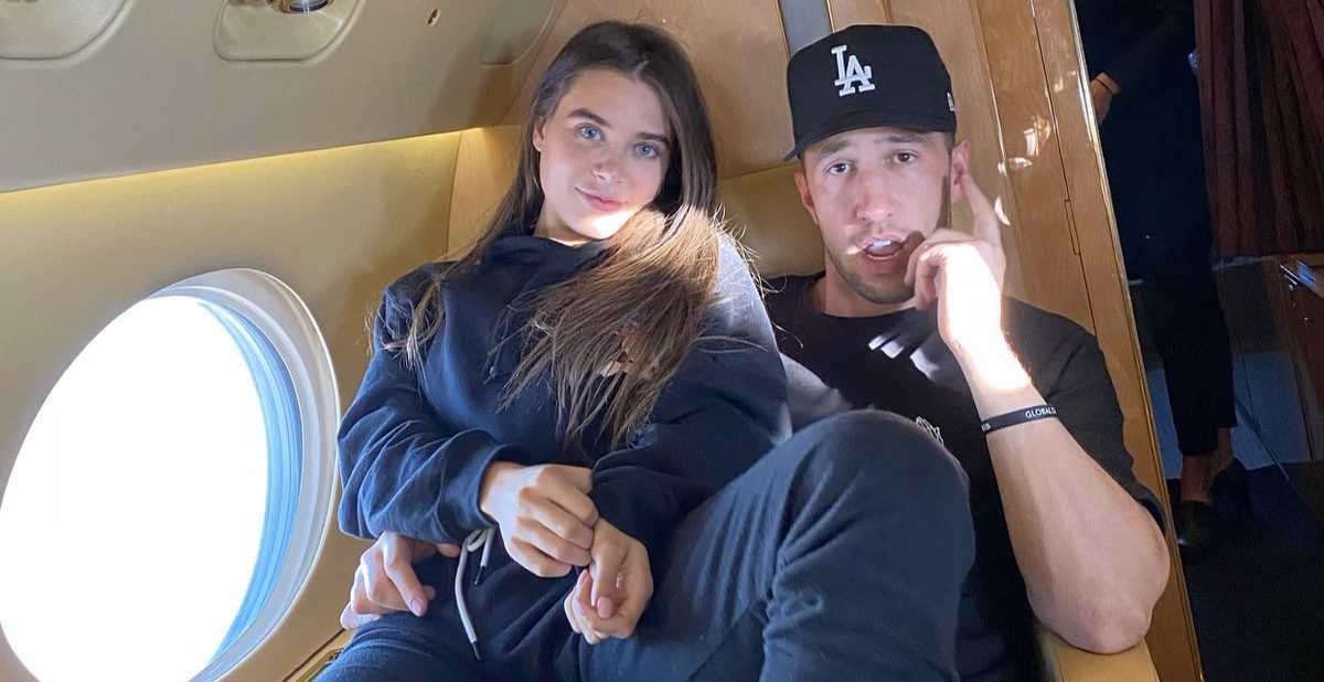 mike majlak and girlfriend lana on private jet