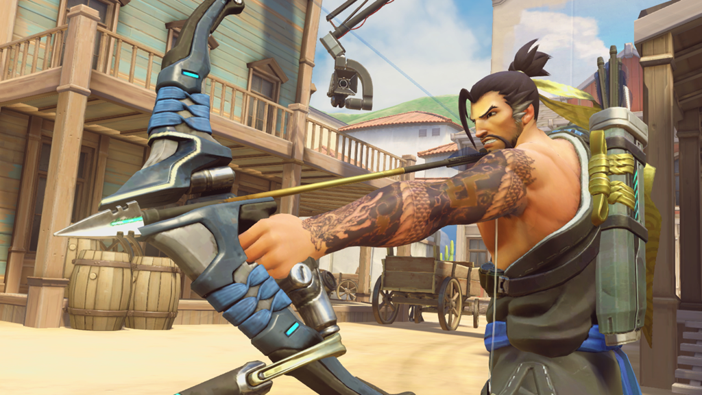 Hanzo wields his bow