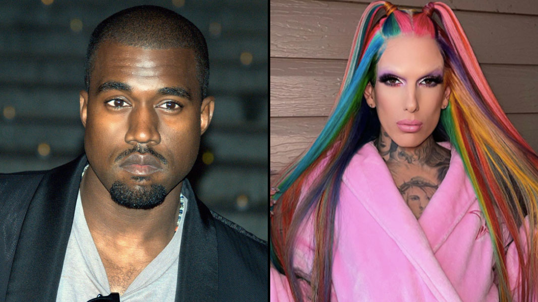 Kanye West and Jeffree Star