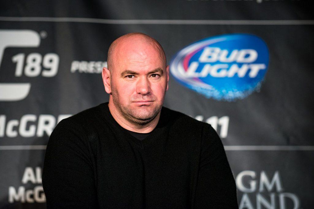 Dana White in a UFC press conference