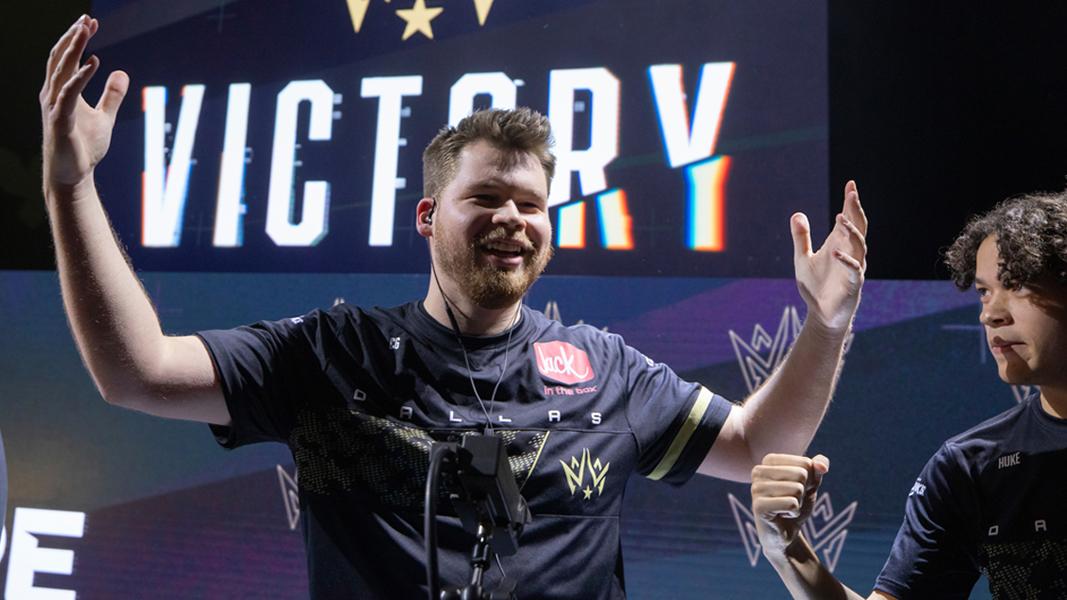 Crimsix celebrating a Dallas Empire win
