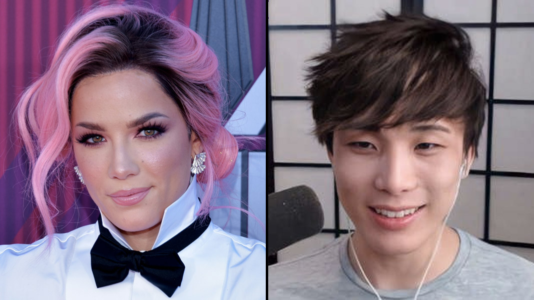 Halsey and Sykkuno side-by-side