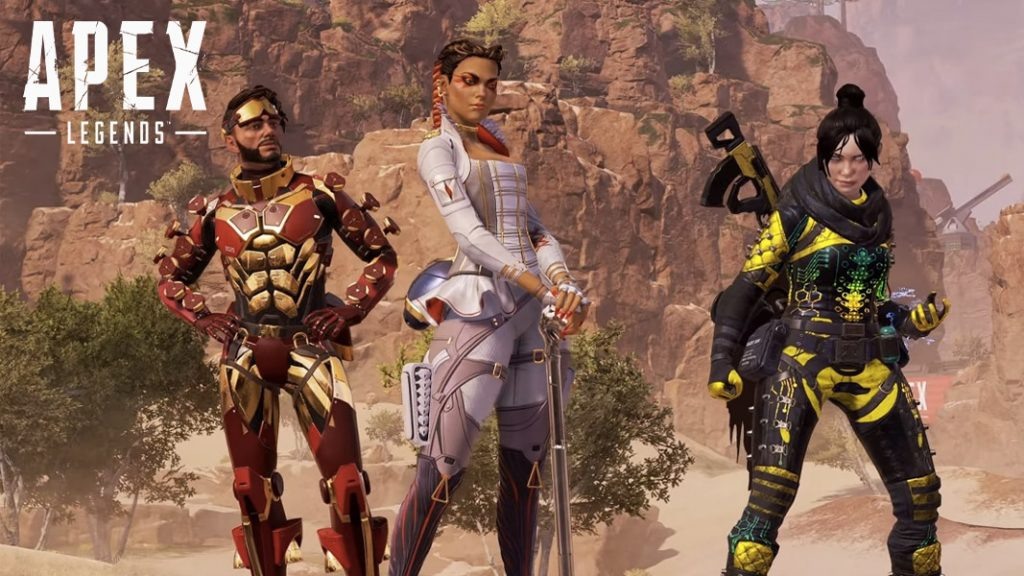Apex Legends trio of character standing side by side