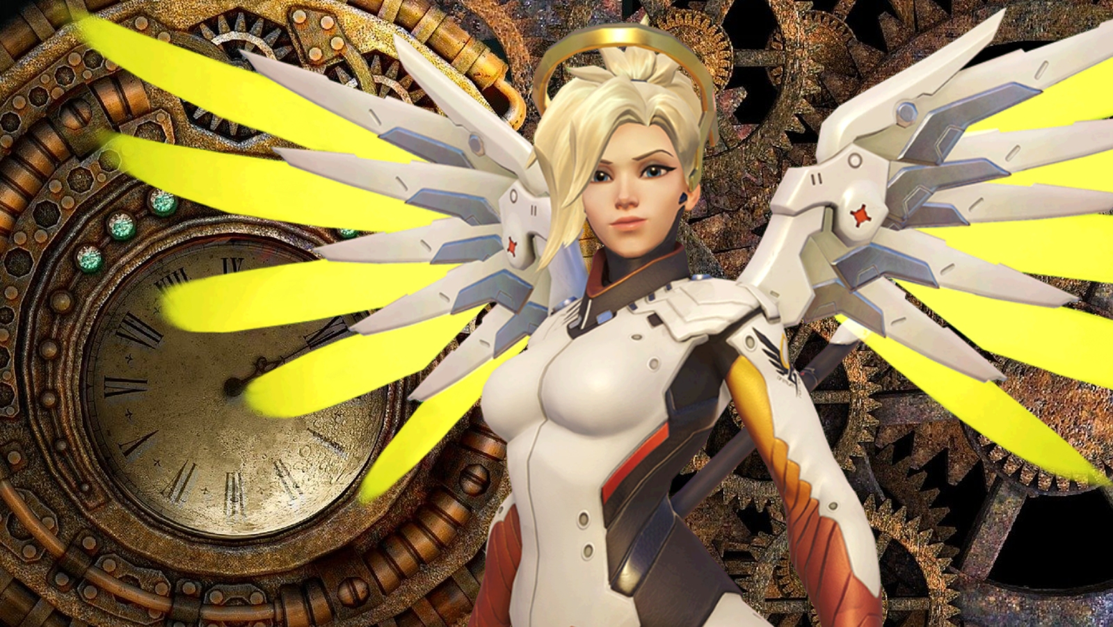 Steampunk Mercy Overwatch Concept Feature
