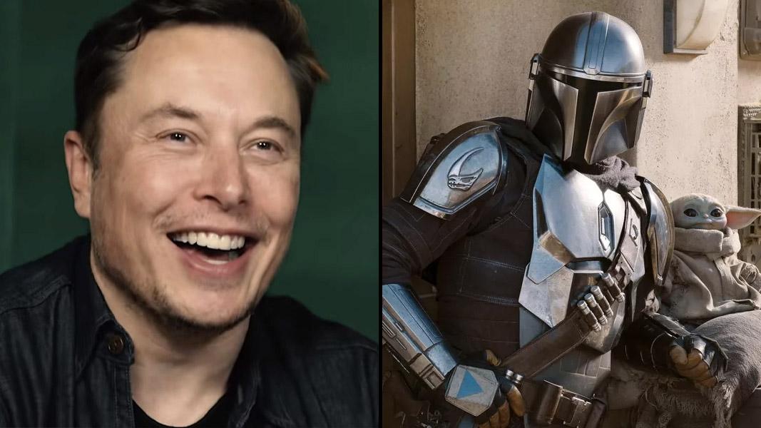 Elon Musk smiling and the Mando