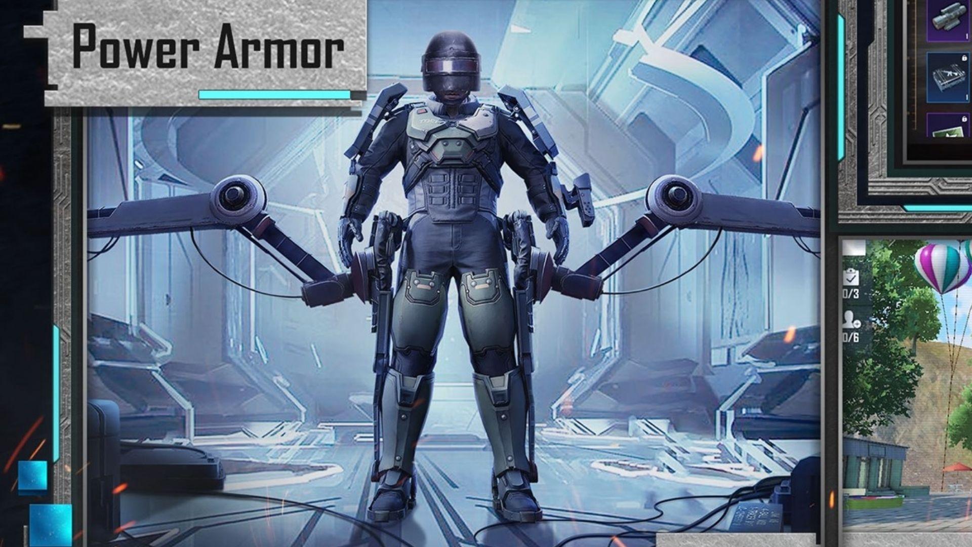 PUBG Mobile Power Armor suit