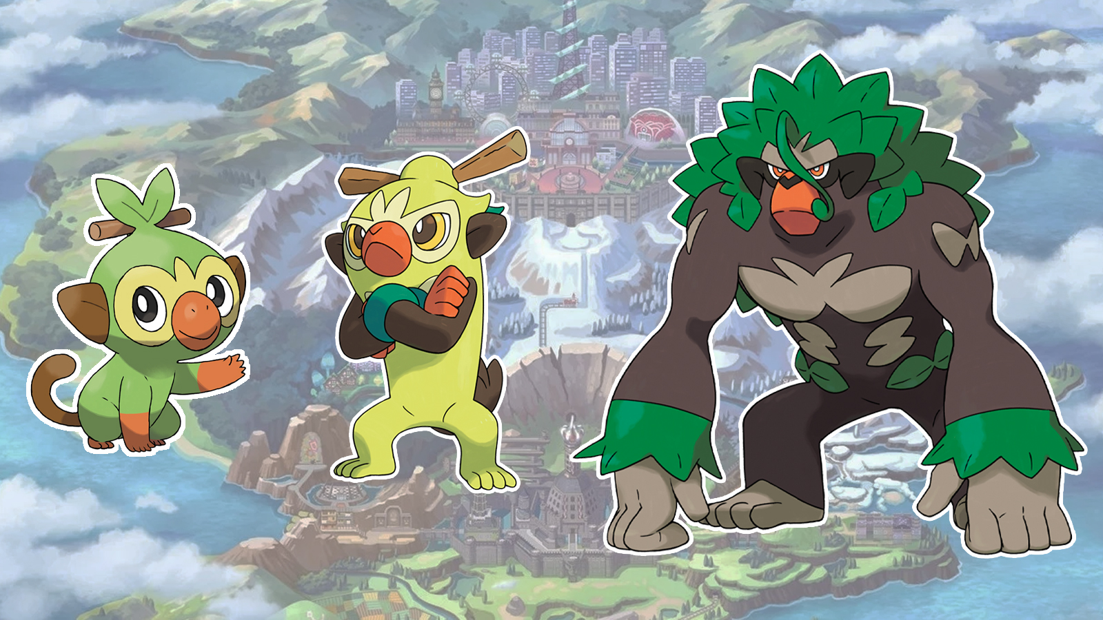 Grookey Thwackey and Rillaboom evolutions