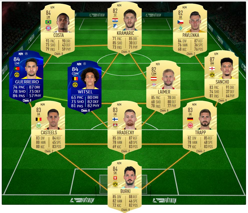 National Duty SBC solution for Milner Showdown FIFA 21