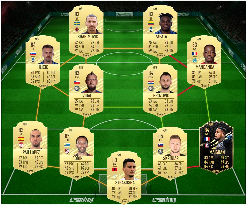 Top Form SBC solution for McTominay Showdown FIFA 21