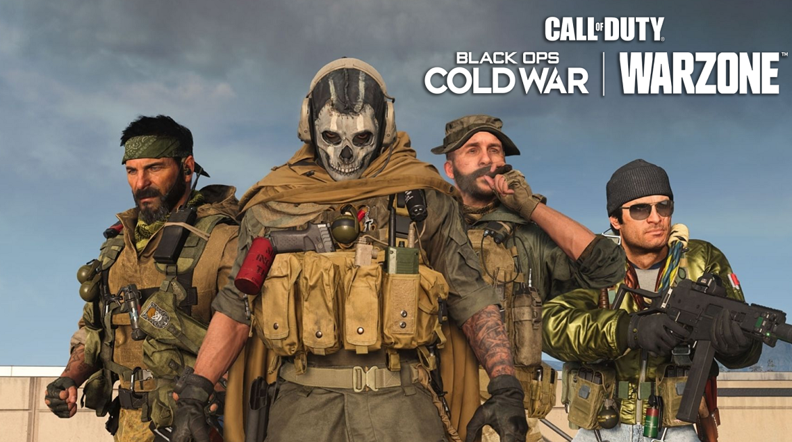 Squad of Warzone characters standing together