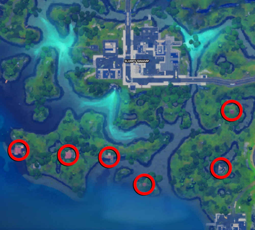 Fortnite Slurpy Swamp Houses Map