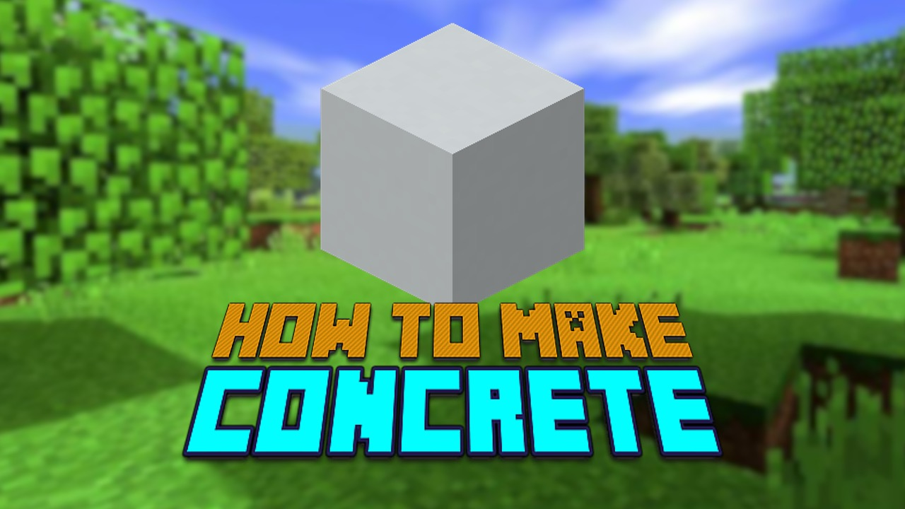 Minecraft concrete