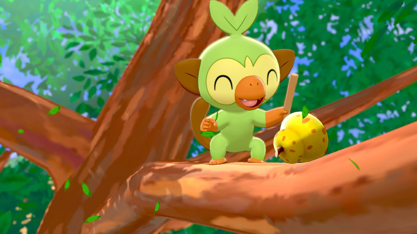 Grookey in Pokemon Sword & Shield