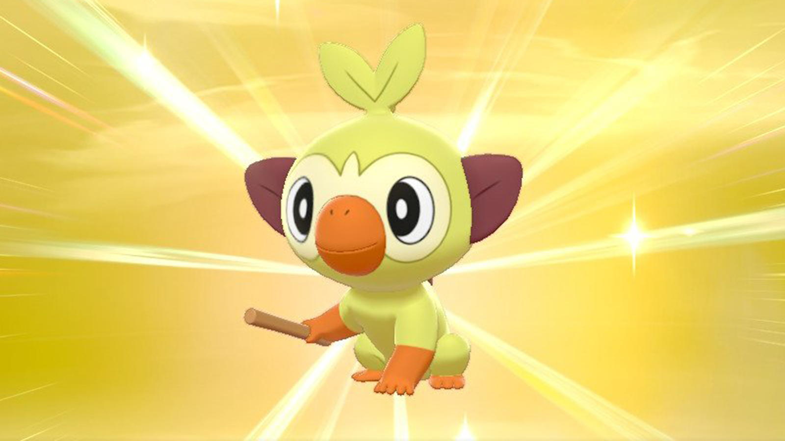 Shiny Grookey Pokemon