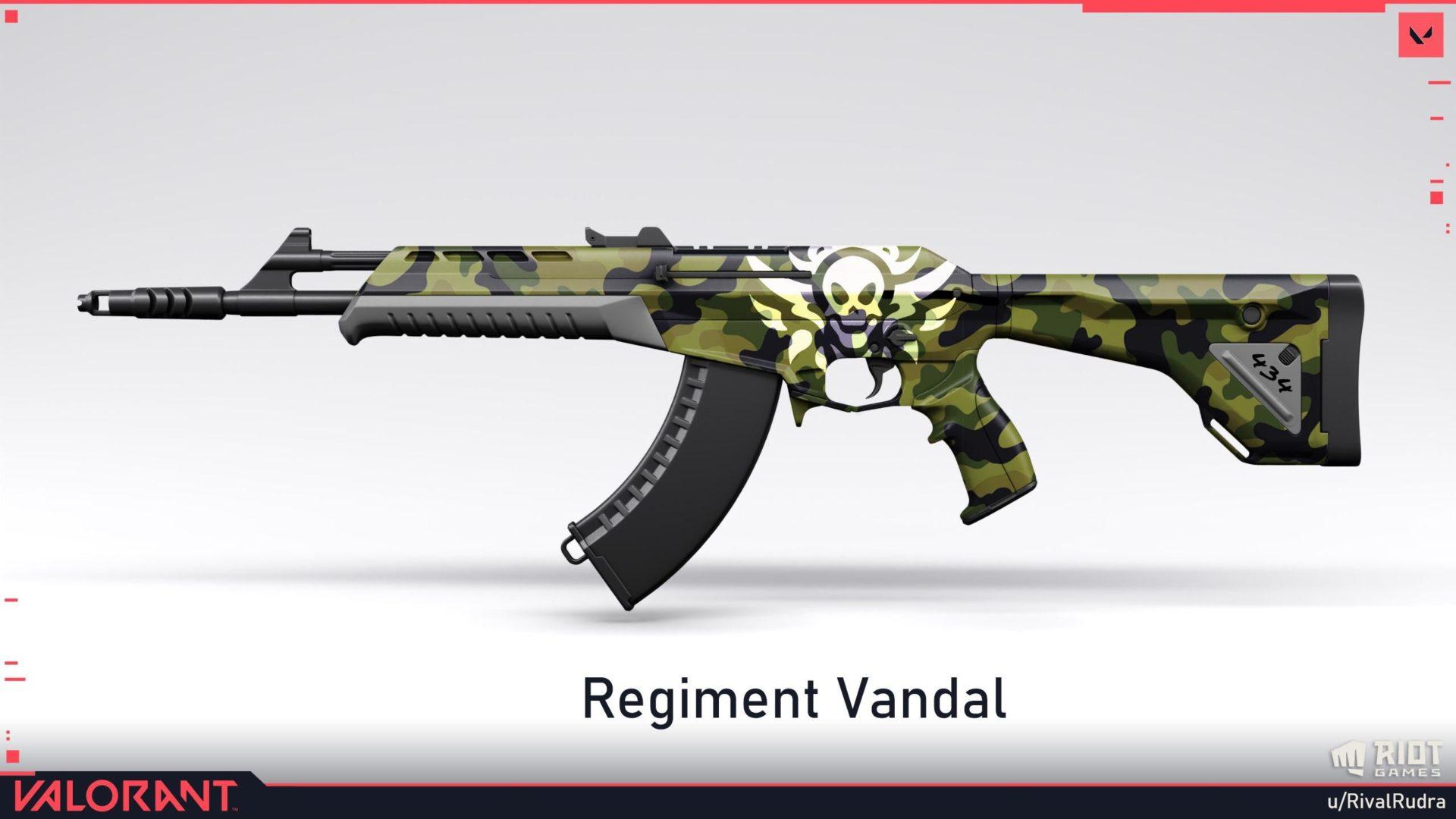 Valorant RivalRudra Regiment Skins