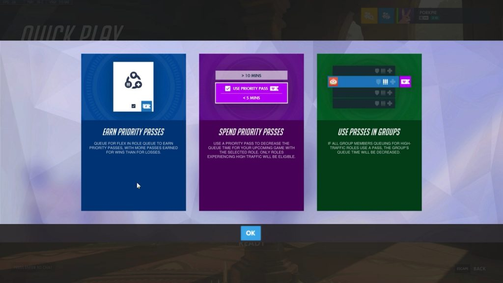 The Priority Pass system in Overwatch