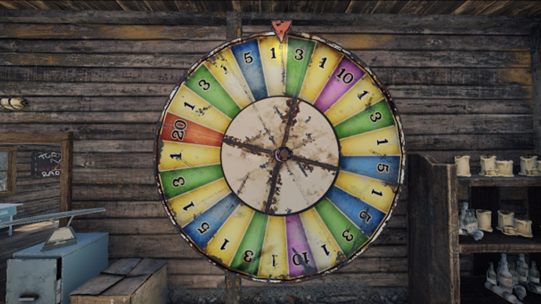 Wheel of Fortune from Rust's casino
