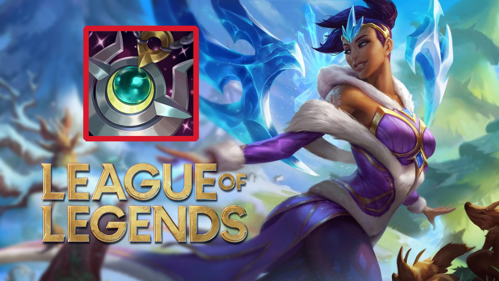 Winter Wonder Karma in League of Legends next to Moonstone Renewer