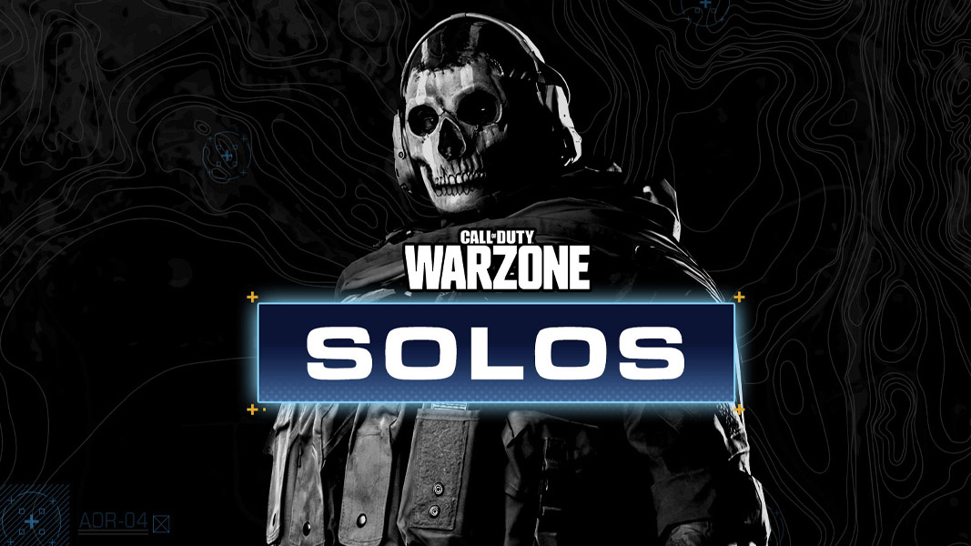 Ghost in Warzone with the solos logo