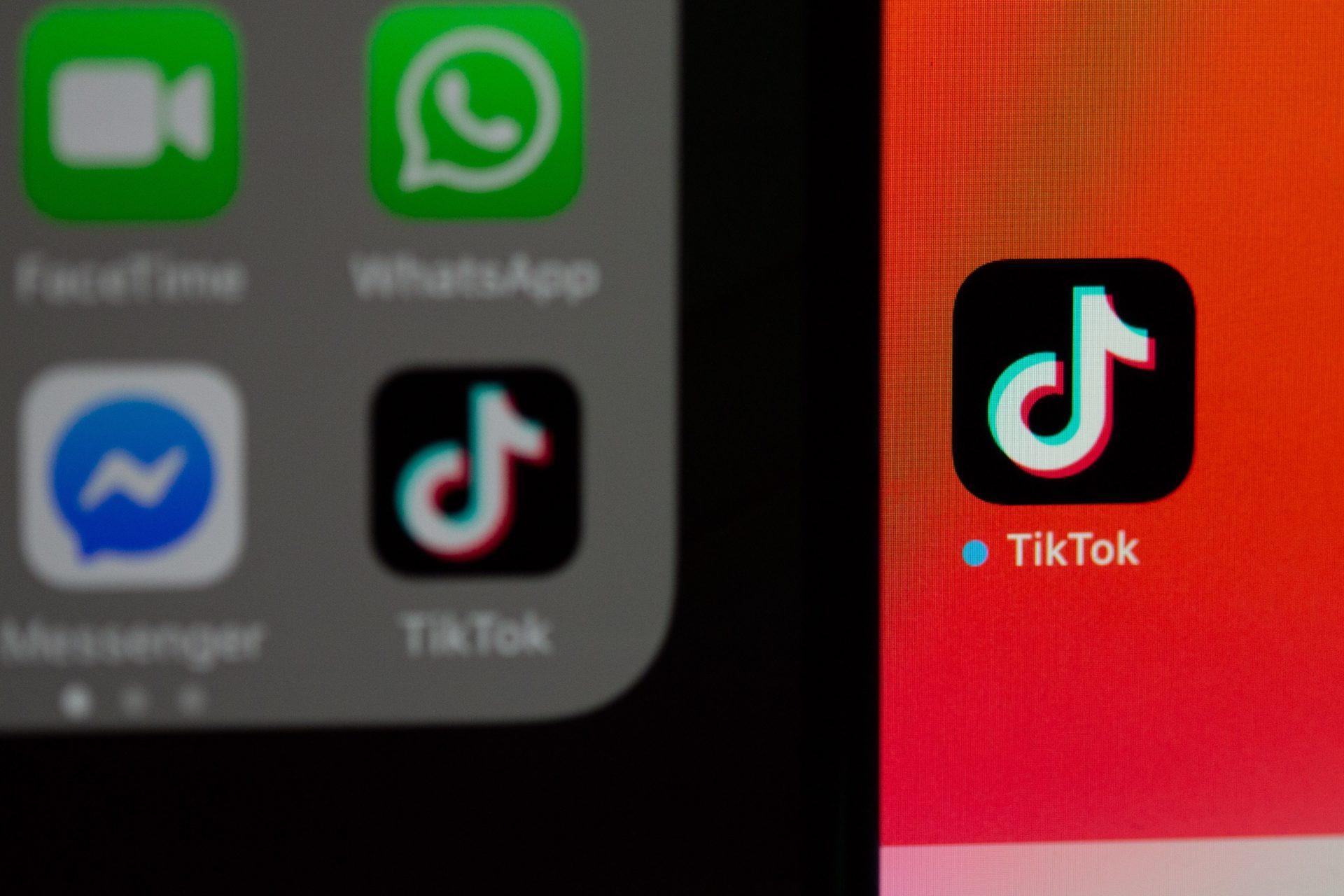 TikTok new app notification