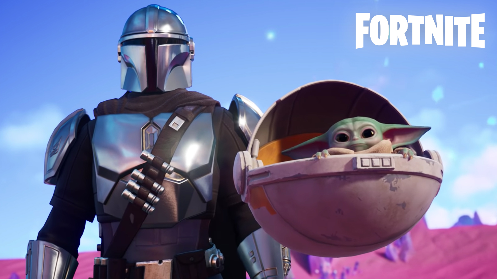 Mandalorian and Baby Yoda in Fortnite